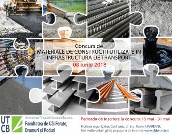 Concurs de Materiale de Constructii Utilizate in Infrastructura de Transport